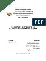 Comunicaciones Opticas - Trabajo -Conceptos y Componentes de Multiplexado Por Longitud de Onda.