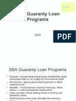 SBA Guaranty Loan Programs Presentation at Small Business Forum in Hampton Roads, VA