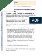 Longitudinal MRI Study of Cortical Development through Early Childhood in Autism