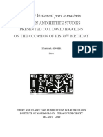 Luwian and Hittite Studies-The political antithesis and foil of