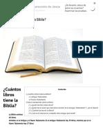 ¿Cuántos Libros Tiene La Biblia