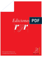 Catalogo Ediciones Ryr Completo