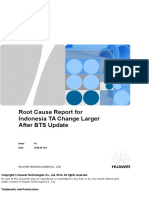 Root Cause Report for Indonesia TA Change Larger After BTS Update