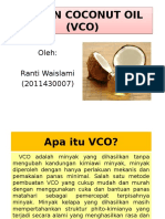 Virgin Coconut Oil (Vco)