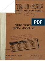 TM11-2516 Tube Tester Espey Model 105, 1944