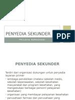 PENYEDIA SEKUNDER