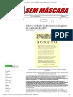 Mídia Sem Máscara - Sobre a Exclusão Da Literatura Portuguesa Do Currículo Do MEC