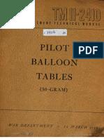 TM11-2410 Pilot Baloon Tables