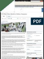 U.S. Plans Cyber Shield for Utilities, Companies
