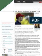 U.S. Pockets $20.6 Bln in Sin Taxes in FY'09