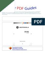 Manual Do Usuário MOTOROLA FOX1500 P