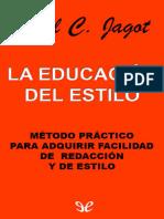 Jagot, Paul C. - La Educacion Del Estilo [35001] (r1.0)