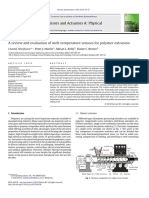 A Review and Evaluation of Melt Temperature Sensors for Polymer Extrusion