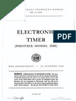 TM11-2395 Electronic Timer Photrix Model 1528