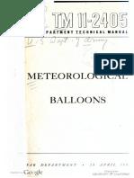 TM11-2405 Meteorological Balloons, 1944