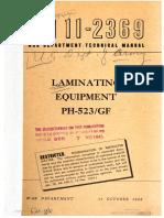 TM11-2369 Laminating Equipment PH-523GF