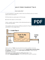 How to Solve Pipes and Tanks Cisterns Problems