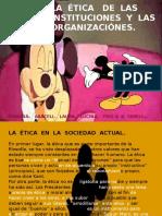 La etica de las instituciones y organizaciones