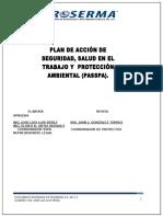 Plan de Acción, Seguridad en El Trabajo y Proteccion Ambiental