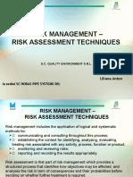 Prezentare Tehnici de Evaluare Risc