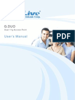 G.DUO Dual 11g Access Point User's Manual