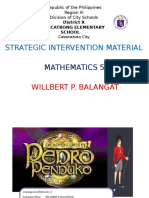 Strategic Intervention Material in Math 5