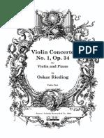 rieding Violin Concerto Op.34 Violin Part