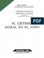 Piage El Criterio Moral en El Nino