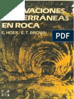 Geolibrospdf Excavaciones Subterraneas en Rocas Hoek Brown