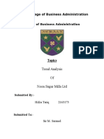 Trend Analysis of Noon Sugar Mills Ltd - Copy