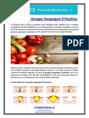 perdita di peso dieta del gruppo sanguigno