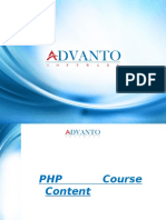 PHP Training in Pune-Course Content  Advanto Software