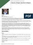 George Bond_ Department of Religious Studies - Northwestern University