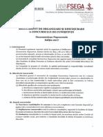Regulament de Organizare Si Desfasurare a Concursului de Cunostinte Oeconomicus Napocensis 2017