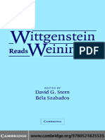 AA.vv. - Wittgenstein Reads Weininger (Cambridge UP)