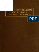 Alfred Freid - Restoration of Europe