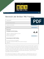 Revisión Del Bróker MB Trading - Mejor Broker de Bolsa