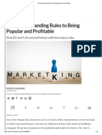 6 Personal Branding Rules to Being Popular and Profitable