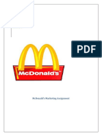 McDonald's Marketing Assignment