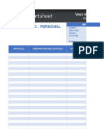 8 Personal Inventory Template ES1