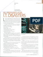 Be Prepared for IT Disasters