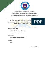 Plan de Responsabilidad Social Empresarial Oficial