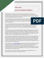 Migliore Agenzia Di Traduzioni Milano