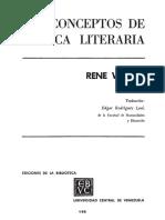 WELLEK - Conceptos de Critica Literaria
