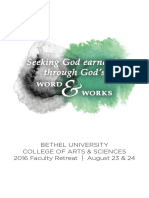 Faculty Retreat Booklet 2016
