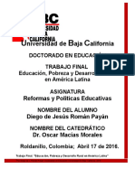 Trabajo Final -Reform y Polit Educativas