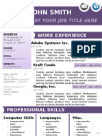 Template CV02 Purple