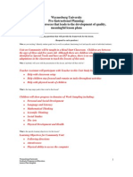 Community Unit Study Plan