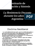 La Resistencia Docente Durante Los Años 90 - Argentina