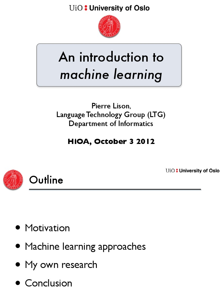 An introduction to machine learning   Machine Learning ...